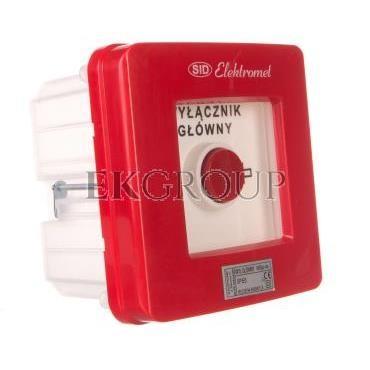 Wyłącznik alarmowy 4Z 12A /WYŁĄCZNIK GŁÓWNY/ IP55 WGp-4s 921593-199707