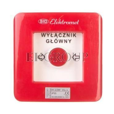 Wyłącznik alarmowy 4Z 12A /WYŁĄCZNIK GŁÓWNY/ IP55 WGp-4s 921593-199708
