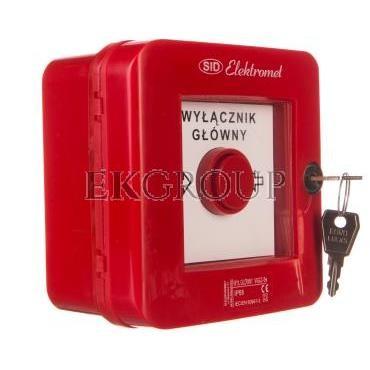 Wyłącznik alarmowy z zamkiem 4Z 12A /WYŁĄCZNK GŁÓWNY/ IP55 WGZ-5s 921494-199662