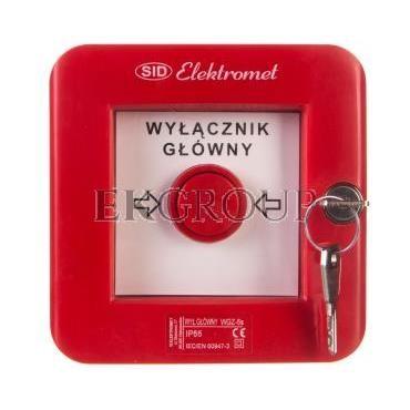 Wyłącznik alarmowy z zamkiem 4Z 12A /WYŁĄCZNK GŁÓWNY/ IP55 WGZ-5s 921494-199663