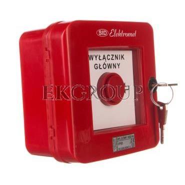 Wyłącznik alarmowy z zamkiem 4R /WYŁĄCZNK GŁÓWNY/ IP55 WGZ-6s 921495-199666