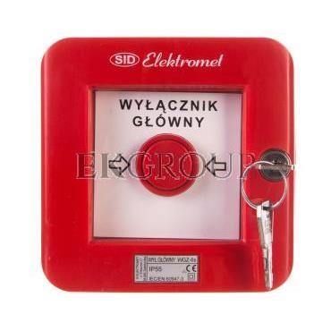 Wyłącznik alarmowy z zamkiem 4R /WYŁĄCZNK GŁÓWNY/ IP55 WGZ-6s 921495-199667