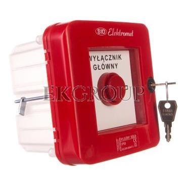 Wyłącznik alarmowy z zamkiem 2Z 12A /WYŁĄCZNIK GŁÓWNY/ IP55 WGZp-2s 921541-199670