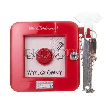 Wyłącznik alarmowy z zamkiem 2Z 2R 12A /WYŁĄCZNIK GŁÓWNY/ IP55 WGZp-4s 921546-199677