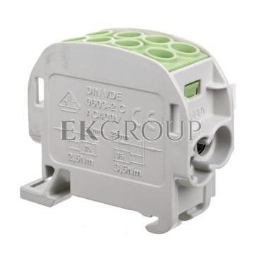 Blok rozdzielczy 1-potencjałowy łączony 125A 2x4-35mm2, 2x2,5-25mm2 zielony HLAK1p35gn 83306005-196021