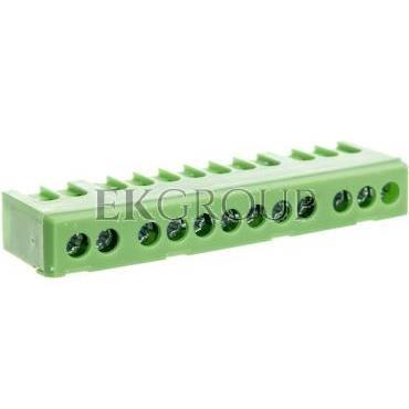 Zacisk przyłącz na TS35 izolowany ochronny PE 12-polowy 12x16mm2 zielony 870S-12FS 89823005-199865