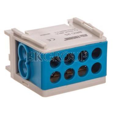 Blok rozdzielczy kompaktowy BRC 25-1/2 niebieski R33RA-02030000501-196032