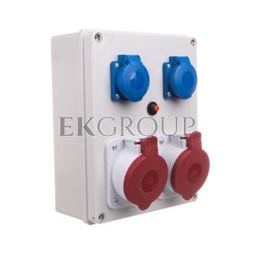 Rozdzielnica R-BOX 240 2x32A/5P 2x250V IP44 B.1099-200016