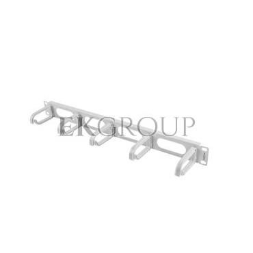 Organizer kabli 19'' 1U z 5 uchwytami - typ B szary AK-1205-S-191168