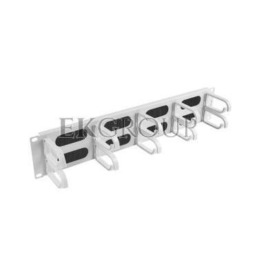 Organizer kabli 19'' 2U z 5 uchwytami typ B   panel szczotkowany szary AK-1204-S-191171