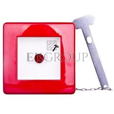 Przycisk ppoż. natynkowy 1Z 1R czerwony z młotkiem 42 RV GW42201H-199603