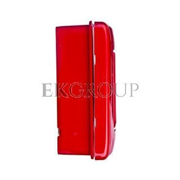 Przycisk ppoż. natynkowy 1Z 1R czerwony z młotkiem 42 RV GW42201H-199604
