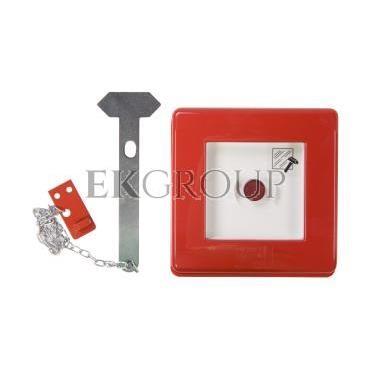Przycisk ppoż. natynkowy 1Z 1R czerwony 42 RV GW42201-199607