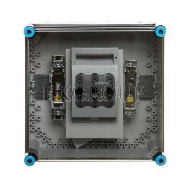 Obudowa rozłącznikiem 1xNH00 (1x3x125A)   zacisk PE N IP65 Mi 85250 HPL00090-196832