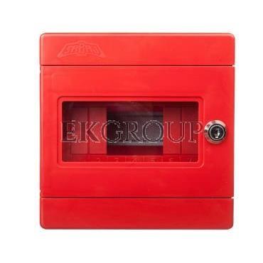 Szafka do wyłącznika p.poż. 1x3 moduły natynkowa czerwona Alfa 3Z 5-406-196396