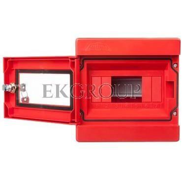 Szafka do wyłącznika p.poż. 1x3 moduły natynkowa czerwona Alfa 3Z 5-406-196397