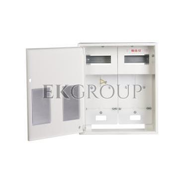 Szafka licznikowa natynkowa/podtynkowa (uniwersalna) 2-licznikowa 1-fazowe 12 modułów IP30 RU-1-2L-12 Z/O-199234