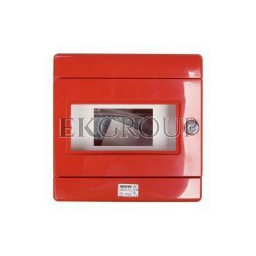 Szafka do wyłącznika p.poż. 1x8 moduły natynkowa czerwona 42 RV GW42202-196389