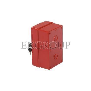 Szafka do wyłącznika p.poż. 1x4 moduły natynkowa czerwona 42 RV GW42206-196393