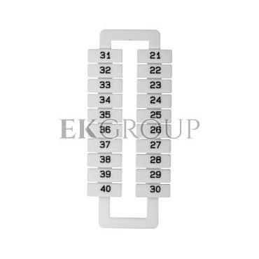 Oznacznik do złączek szynowych 2,5-70mm2 /21-40/ biały 43192 (20szt.)-192206