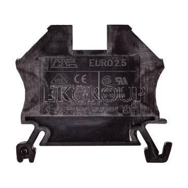 Złączka szynowa 2-przewodowa 2,5mm2 czarna EURO 43408BK-213754