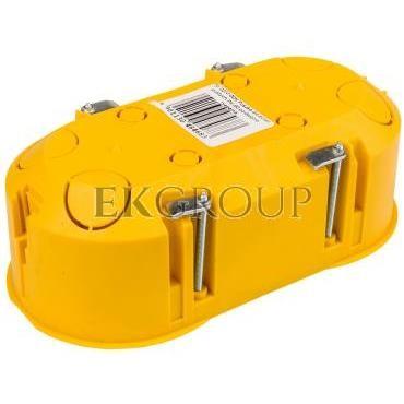 Puszka podtynkowa podwójna 60mm regips samogasnąca żółta PK-2x60 0210-0N-211102