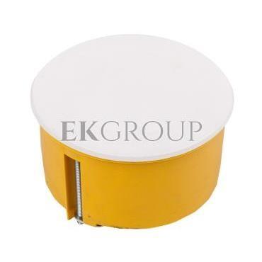 Puszka podtynkowa 70mm regips żółta z pokrywą PO-70F 0204-0N-211103