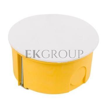 Puszka podtynkowa 80mm regips niepalna żółta PO-80 0209-0N-211073