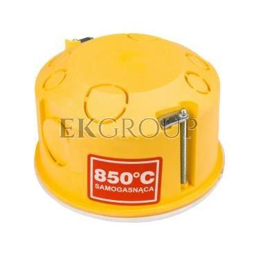 Puszka podtynkowa 80mm regips niepalna żółta PO-80 0209-0N-211074