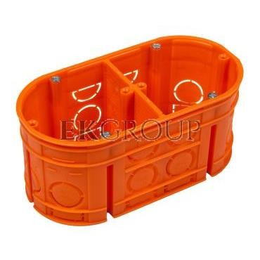 Puszka podtynkowa podwójna 60mm pomarańczowa M2x60F 33160008-212051