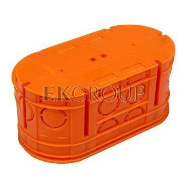Puszka podtynkowa podwójna 60mm pomarańczowa M2x60F 33160008-212052
