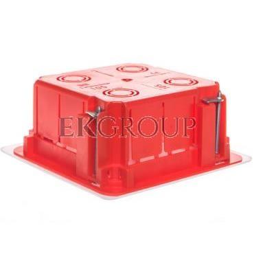 Puszka p/t n/t 105mm 105x 50mm tworzywo IP54 czerwony 0262-00-211128