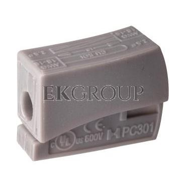 Szybkozłączka 1x0,5-2,5mm2 jasnoszary PC301-CL 89006002 /100szt./-212542