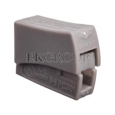 Szybkozłączka 1x0,5-2,5mm2 jasnoszary PC301-CL 89006002 /100szt./-212543