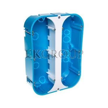 Puszka osprzętowa sześciopolowa P6x60D niebieska 32174203-211135