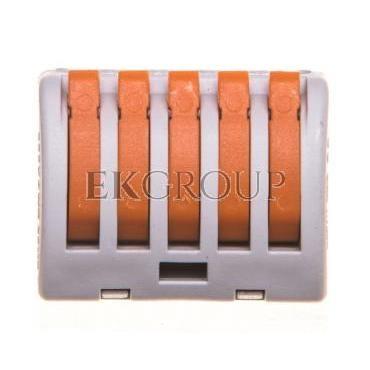 Uniwersalna złączka do przewodów jedno- i wielodrutowych, 5-torowa 2,5mm2 24A szary ZU-405 85125000-212584