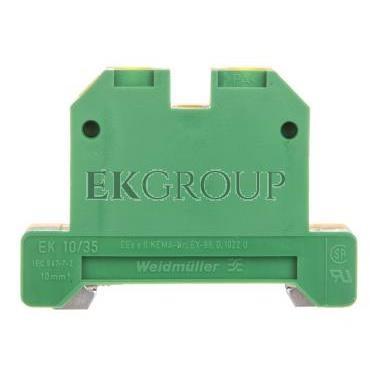 Złączka szynowa ochronna PE 2-przewodowa 10mm2 żółto-zielona EK 10/35 0661360000-213620