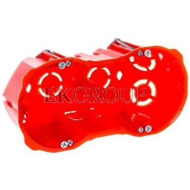 Puszka p/t regips 2x60mm głęboka z wkrętami czerwona PK-2x60 0286-00-212149