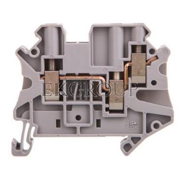 Złączka szynowa 3-przewodowa 4mm2 szara Ex UT 4-TWIN 3044364-214627