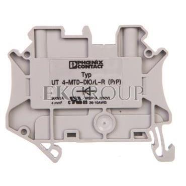 Złączka szynowa elementów kontrolnych 2-przewodowa 4mm2 szara UT 4-MTD-DIO/L-R 3046210-214919
