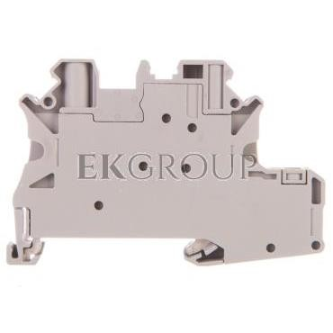 Złączka szynowa elementów kontrolnych 2-przewodowa 4mm2 szara UT 4-PE/L-DIO/R- 3046235-214920