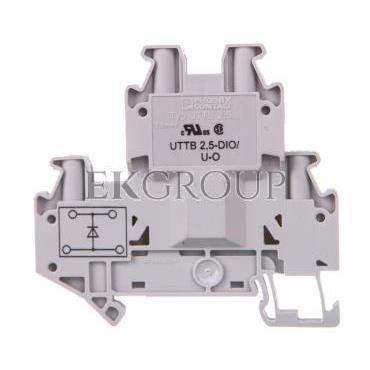 Złączka szynowa elementów kontrolnych 2-piętrowa 4-przewodowa 2,5mm2 szara UTTB 2,5-DIO/U-O 3046663-214926