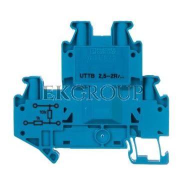 Złączka szynowa elementów kontrolnych 2-piętrowe 4-przewodowa 2,5mm2 szara UTTB 2,5-2R BU/N 3046672-214927