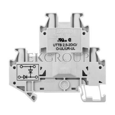Złączka szynowa elementów kontrolnych 2-piętrowa 4-przewodowa 2,5mm2 szara UTTB 2,5-2DIO/O- 3046676-214928