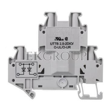 Złączka szynowa elementów kontrolnych 2-piętrowa 4-przewodowa 2,5mm2 szara UTTB 2,5-2DIO/O- 3046689-214929