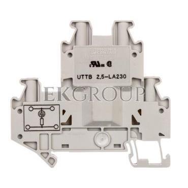 Złączka szynowa elementów kontrolnych 2-piętrowa 4-przewodowa 2,5mm2 szara UTTB 2,5-LA 230 3046715-214932