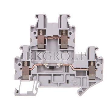 Złączka szynowa elementów kontrolnych 2-piętrowa 4-przewodowa 2,5mm2 szara UTTB 2,5-DIO/UL- 3046728-214933