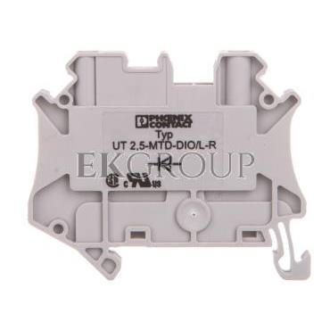 Złączka szynowa elementów kontrolnych 2-przewodowa 2,5mm2 szara UT 2,5-MTD-DIO/L 3064137-214936
