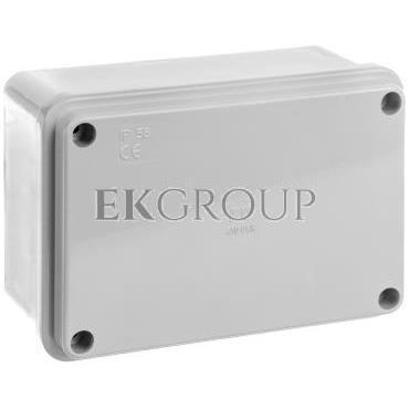 Puszka natynkowa gładka z pokrywą seria 410 IP56 120x80x50 szara EC410C4R-211635
