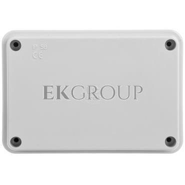 Puszka natynkowa gładka z pokrywą seria 410 IP56 120x80x50 szara EC410C4R-211636